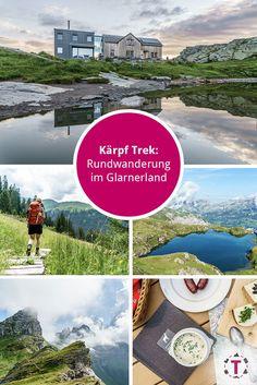 Kärpf-Trek: Schöne Mehrtageswanderung im Glarnerland Vacation Destinations, Switzerland, Trek, Landscape Photography, Things To Do, Scenery, Wanderlust, Hiking, Sky