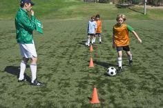 Treinamento em circuito técnico de futebol