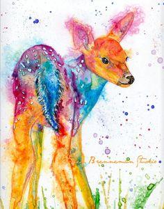 Baby Fawn fine art print by Ellen Brenneman