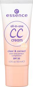 CC cream tudo-em-um clear & correct 10 natural - essence cosmetics