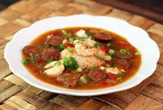Classic Sausage and Shrimp Gumbo With Tomatoes and Okra