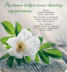 Finnish Words, Mind Power, Enjoy Your Life, My Sunshine, Qoutes, Diy And Crafts, Poems, Anna, Presents
