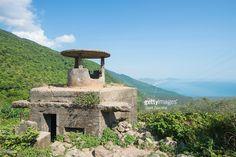 Abandoned of military bunker in Hai Van pass between the ancient. Vietnam Location, Vietnam Image, Danang Vietnam, Old Fort, Da Nang, Royalty Free Images, Abandoned, Van, Military