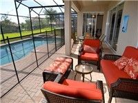 This lovely townhome, just 2.5 miles from Walt Disney World Main Gate, has 5 bedrooms and a sofa sleeper which will bring the total accommodation up to 12 people. Enjoy the private west facing splash pool to cool off and relax in the sun chairs.