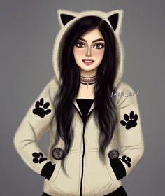 Photos Of Cats Refferal: 7342260747 Beautiful Girl Drawing, Cute Girl Drawing, Girly M, Best Friend Drawings, Girly Drawings, Cute Cartoon Girl, Cartoon Art, Sarra Art, Lovely Girl Image