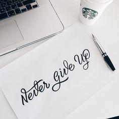 "Lettering tattoo sketch ""Never give up"" #script #lettering #letteringdesign #handletter #handletters #handlettering #handmadefont #type #typo #typism #typeface #typegang #spensers_art #ligaturecollective #typespire #goodtype #typematters #typespot #handtype #typographyserved #typographyinspired #typographie #tattoo #tattoosketch #nevergiveup #handcrafted by spenser_ss"
