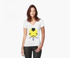 Cartoon Finch V-Neck T-Shirts by AnMGoug on Redbubble. #finch #bird #tshirt #cartoon