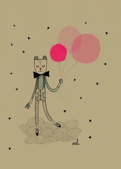 Minimel 'Poster A3 Balloons'