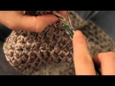 ▶ Crocheting a cowl: Half Double Stitch - YouTube