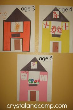 letter of the week prechool craft: h is for house