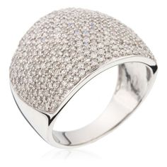 White Gold Ring with Diamonds (2.0 ct)