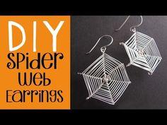 Halloween DIY - Spider Web Earrings Tutorial - Easy Halloween Costume - YouTube