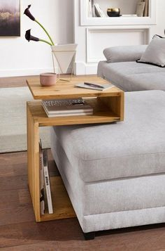 Home affaire side table, made of solid wood OTTO- Home affaire Beistelltisch, aus Massivholz kaufen Side Table Decor, Sofa Side Table, Couch Table, Living Room Side Tables, Wood Furniture, Furniture Design, Smart Furniture, Sofa Design, Interior Design