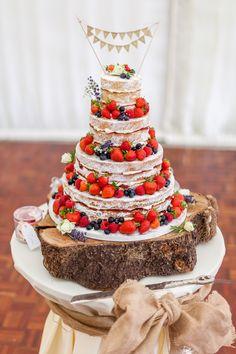 Strawberry Delight! #nakedcake #berrycake #victoriasponge #minibunting Victoria Sponge Wedding Cake, Wedding Cakes, Wedding Venues, Strawberry Delight, Mini Bunting, Berry Cake, Isle Of Wight, Big Day, Beautiful