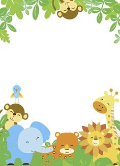 Image result for teal and yellow zoo animals baby shower