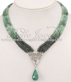 Source Colombian & Zambian Emerald Beads Necklace on m.alibaba.com