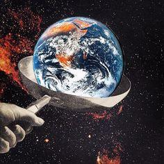Fry up #joewebb #collage #earth #globalwarming