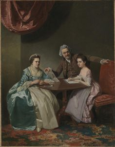 c.1765–8, Johan Zoffany 'Mr and Mrs Dalton and their Niece Mary de Heulle'