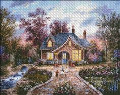 Secret Cottage [LEWAN18011] - $19.00 : Heaven And Earth Designs, cross stitch, cross stitch patterns, counted cross stitch, christmas stockings, counted cross stitch chart, counted cross stitch designs, cross stitching, patterns, cross stitch art, cross stitch books, how to cross stitch, cross stitch needlework, cross stitch websites, cross stitch crafts
