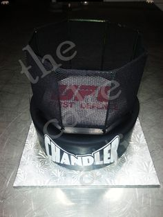 UFC fondant cake with non-edible cage. By thecakeattic.com in Salisbury, NC www.facebook.com/thecakeattic