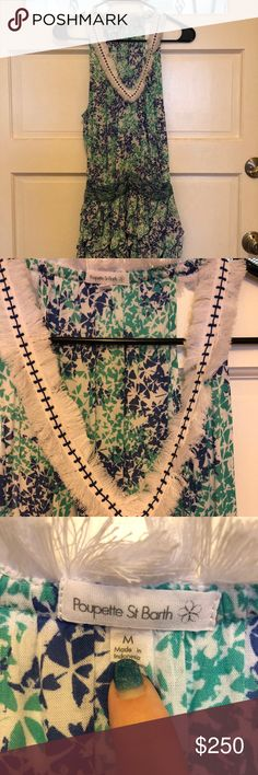 NWOT Poupette St Barth Beline Dress Cover up dress that works for the beach as well as sipping champagne over brunch.  Never worn. Poupette St Barth Dresses