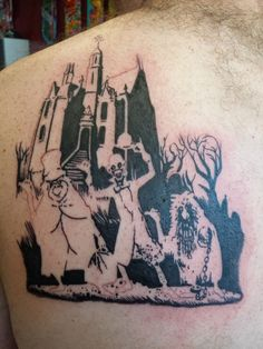 haunted mansion tattoo | My husband has wanted this Haunted Mansion tattoo for a long, long ...
