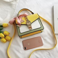 Leather Colorful Crossbody Bag in 2020 Stylish Handbags, Fashion Handbags, Purses And Handbags, Fashion Bags, Louis Vuitton Handbags, Bags For Teens, Girls Bags, Cute Mini Backpacks, Trendy Purses