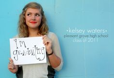@ Kristen Vermillion....what do you think of this to do for my senior pictures?? Cheesy or cute?? lol