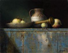 Pintura a óleo do pintor holandês Wiilie Berkers