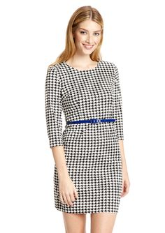 SPENSE Belted Three-Quarter Sleeve Dress