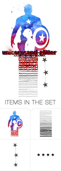 """""""captain icon"""" by nico-de-angelo ❤ liked on Polyvore featuring art, Avengers, nicosartsets and nicosavengers"""
