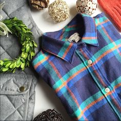 "NWT J Crew Boyfriend Flannel shirt Size XS NEW WITH TAGS -- You can finally stop stealing his.  This boyfriend button-down is made from the softest cotton flannel, this slightly oversized staple is the one you'll be living in all season long. Size XS Cotton. Long roll-up sleeves. Functional buttons at cuffs. Button placket. Chest pocket. Machine wash. 17.5"" bust, 26.5 "" length measured lying flat.  ‼️PM Editor Share ‼️ J Crew Party Cover Shot January 30, 2016‼️ ⭐️Cozy Chic Host Pick ⭐️…"