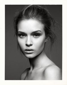 black and white female portrait photography - Google Search