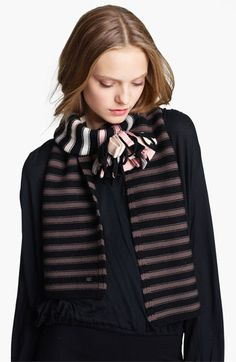 Sonia Rykiel 'Pompom' Wool Knit Scarf available at Nordstrom