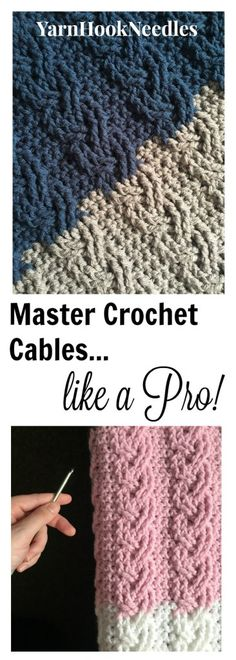 The Neapolitan French Braid Crochet Cable with FREE Pattern! - YarnHookNeedles
