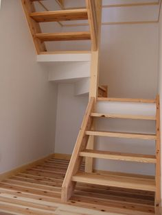 Onocom Design Center - Stairs Loft Stairs, House Stairs, Staircase Design, Home Reno, Stairways, Small Spaces, Sweet Home, Shed, Shelves