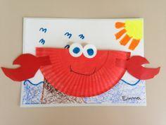 Tapa álbum escolar. Dibujar cangrejo en la portada del álbum del colegio