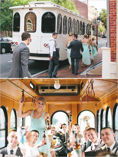 Cescaphe Trolley for transporting wedding party to the reception