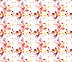 sorbet watercolor triangles // small  fabric by ivieclothco on Spoonflower - custom fabric