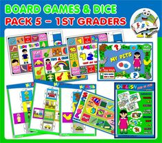 ENGLISH STEP BY STEP - 1ST GRADERS (PACK 5) http://teachenglishstepbystep.weebly.com/step-by-step---1st-graders.html