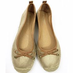 Naturalizer gold flats Naturalizer comfort flats. Style is sarah. Fits a 7.5W. Has a light gold sheen to them. Worn only once. Perfect shoes to slip on when you need immediate comfort. Naturalizer Shoes Flats & Loafers
