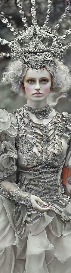 Shades Of White, Color Shades, 50 Shades, Gray Color, Flamboyant, Fairy Crown, Dark Queen, Rococo Style, Snow Queen