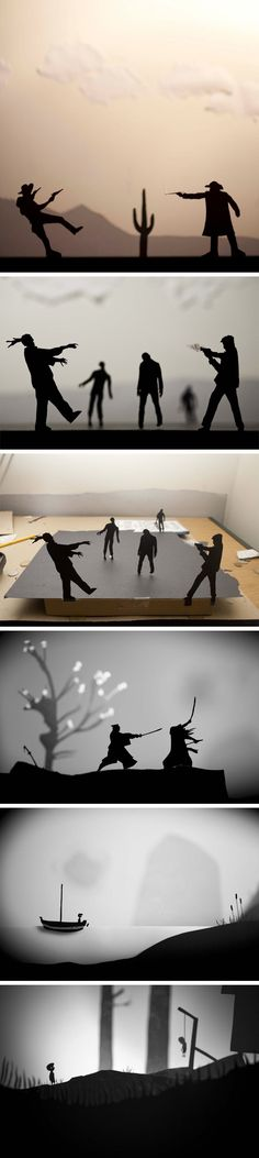 paper cut silhouettes by David A. Reeves