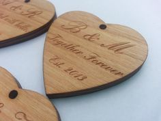 Custom Rustic Wedding Favors Wood Heart. by ronniemade on Etsy, $3.00