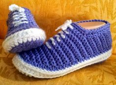 "OMG how cute are these! Shush's Handmade Stuff: ""Vans"" - Crochet Slippers - PDF patterns"