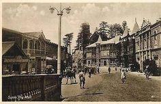 Simla or Shimla India 1908 The Mall Collectible Antique Vintage Postcard