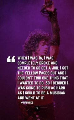RIP Prince.  To be a great entrepreneur you have to hire great tech talent. Our 15+ years of experience can help you. Contact us at carlos@recruitingforgood.com