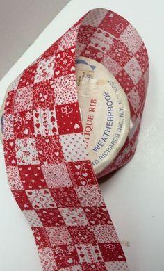 "2.5""x25yd Red Hearts Weatherproof Ribbon Real Fabric Valentines Weddings Wreaths  | eBay"