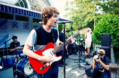 Swedish music photographer Joachim Johnson were invited to document our private poolside show with The Rapture.