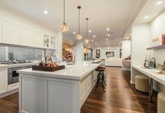 The Esperance new home design by McDonald Jones New Home Designs, Kitchen Island, Floating Kitchen Island
